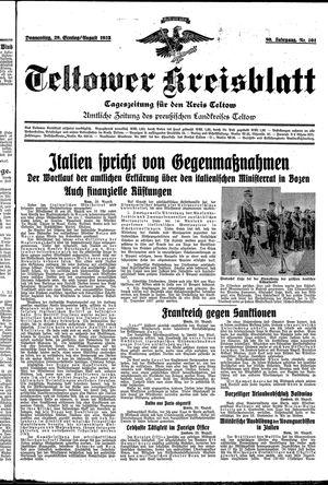Teltower Kreisblatt vom 29.08.1935