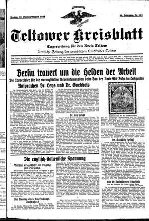 Teltower Kreisblatt vom 30.08.1935