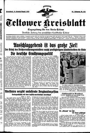 Teltower Kreisblatt vom 31.08.1935