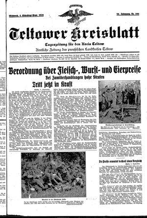 Teltower Kreisblatt vom 04.09.1935