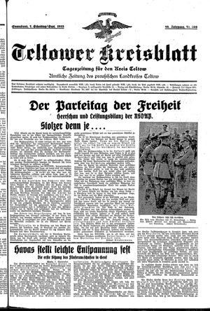 Teltower Kreisblatt vom 07.09.1935