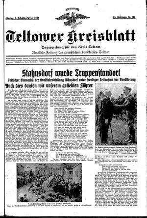 Teltower Kreisblatt vom 09.09.1935