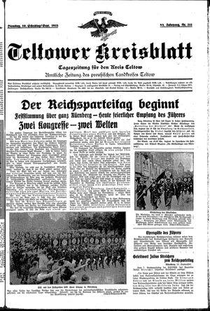 Teltower Kreisblatt vom 10.09.1935