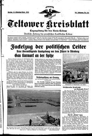 Teltower Kreisblatt vom 13.09.1935