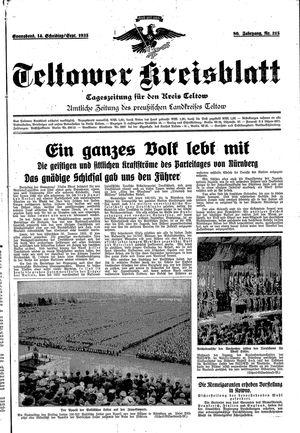 Teltower Kreisblatt vom 14.09.1935