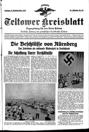 Teltower Kreisblatt vom 17.09.1935