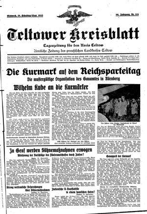 Teltower Kreisblatt vom 18.09.1935