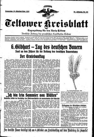 Teltower Kreisblatt vom 19.09.1935