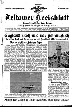 Teltower Kreisblatt vom 21.09.1935