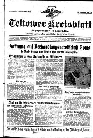 Teltower Kreisblatt vom 23.09.1935