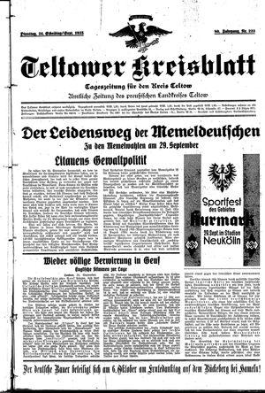 Teltower Kreisblatt vom 24.09.1935