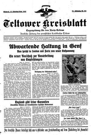 Teltower Kreisblatt vom 25.09.1935