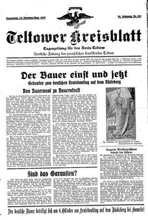 Teltower Kreisblatt vom 26.09.1935