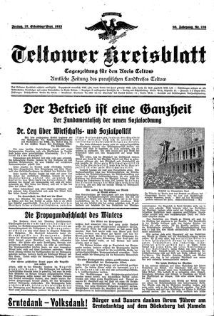 Teltower Kreisblatt on Sep 27, 1935
