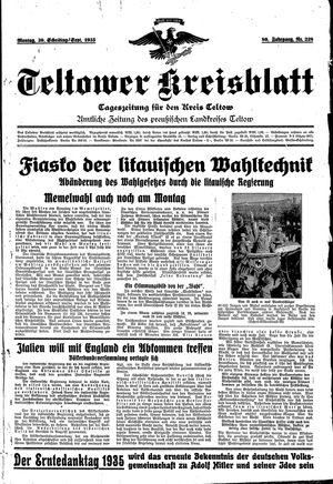 Teltower Kreisblatt vom 30.09.1935
