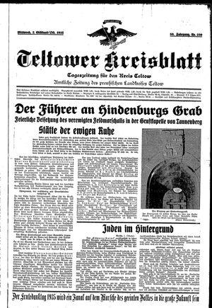 Teltower Kreisblatt vom 02.10.1935