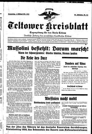Teltower Kreisblatt vom 03.10.1935