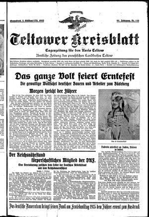 Teltower Kreisblatt vom 05.10.1935