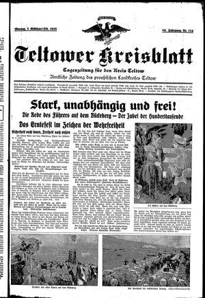 Teltower Kreisblatt vom 07.10.1935