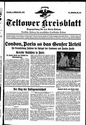 Teltower Kreisblatt vom 08.10.1935