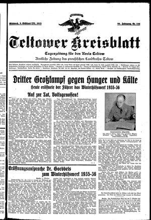 Teltower Kreisblatt vom 09.10.1935