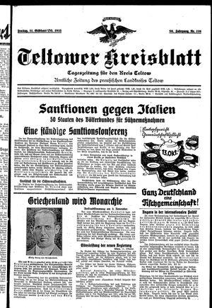 Teltower Kreisblatt vom 11.10.1935