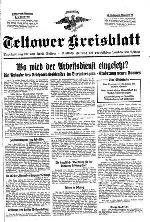 Teltower Kreisblatt vom 03.04.1937