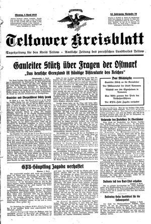 Teltower Kreisblatt vom 05.04.1937
