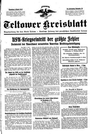 Teltower Kreisblatt vom 06.04.1937