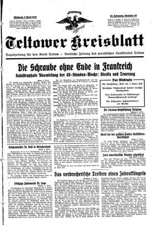 Teltower Kreisblatt vom 07.04.1937