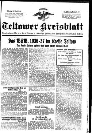 Teltower Kreisblatt vom 12.04.1937