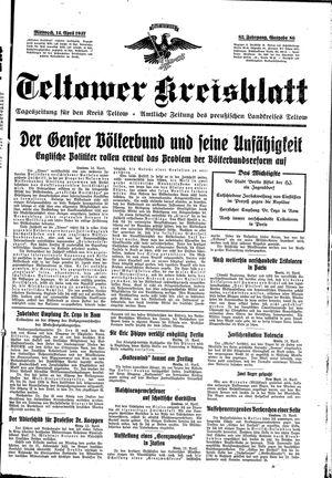 Teltower Kreisblatt vom 14.04.1937