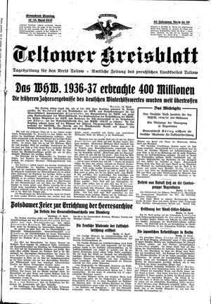 Teltower Kreisblatt vom 17.04.1937