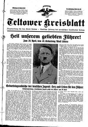 Teltower Kreisblatt vom 19.04.1937