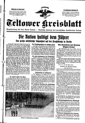 Teltower Kreisblatt vom 21.04.1937