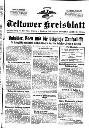 Teltower Kreisblatt vom 23.04.1937