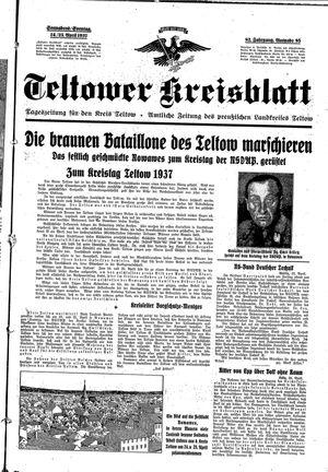 Teltower Kreisblatt vom 24.04.1937