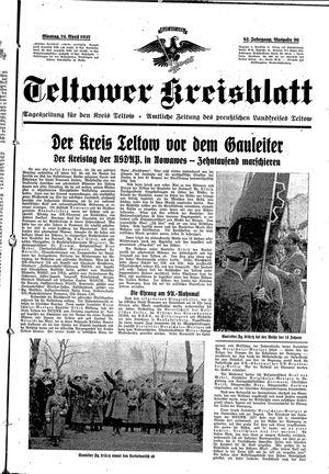 Teltower Kreisblatt on Apr 26, 1937