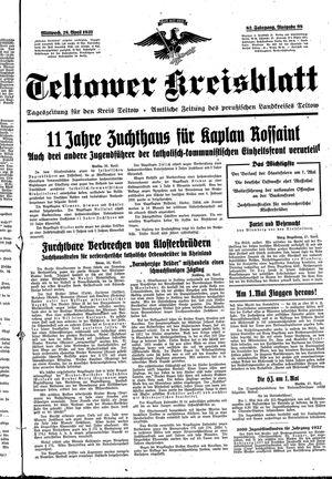 Teltower Kreisblatt vom 28.04.1937