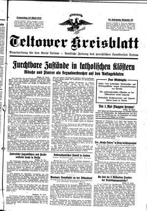 Teltower Kreisblatt vom 29.04.1937