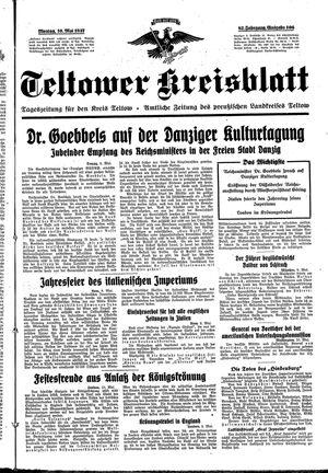 Teltower Kreisblatt vom 10.05.1937