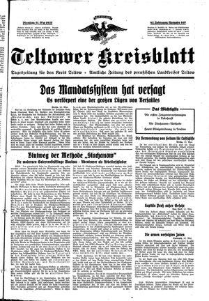 Teltower Kreisblatt vom 11.05.1937