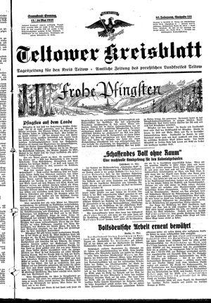 Teltower Kreisblatt vom 15.05.1937