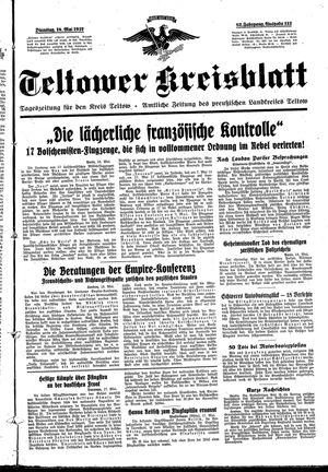 Teltower Kreisblatt on May 18, 1937