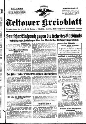Teltower Kreisblatt vom 21.05.1937