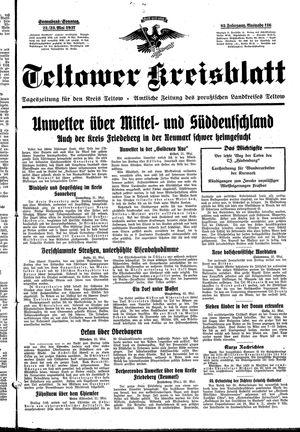 Teltower Kreisblatt vom 22.05.1937