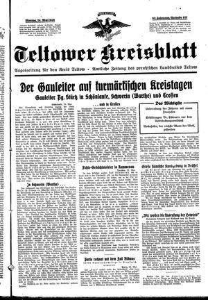 Teltower Kreisblatt vom 24.05.1937