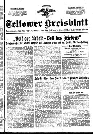 Teltower Kreisblatt vom 26.05.1937