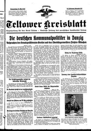Teltower Kreisblatt vom 27.05.1937
