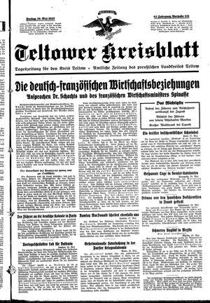 Teltower Kreisblatt vom 28.05.1937